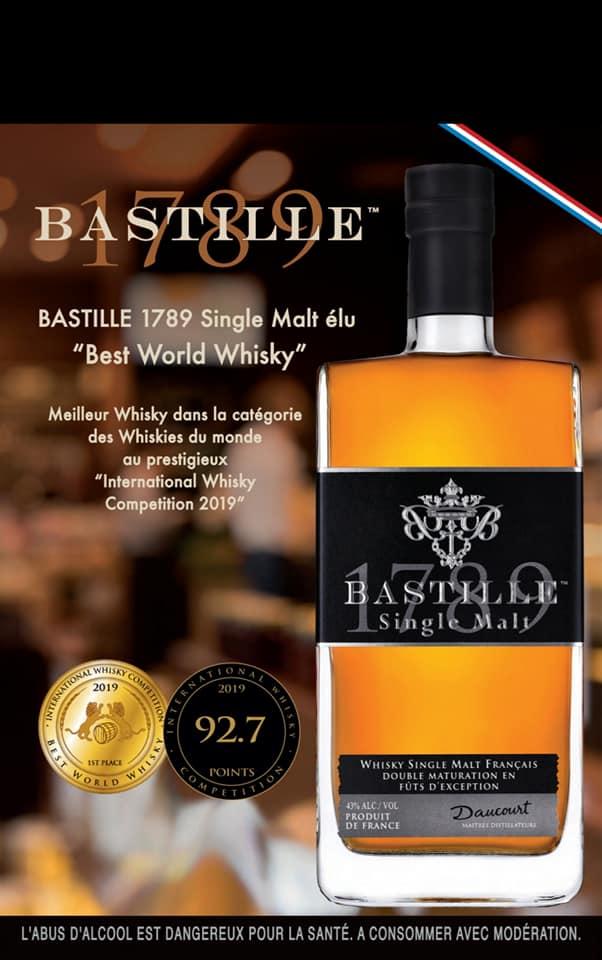 恭賀 Bastille #法國巴斯堤單一麥芽威士忌 被國際威士忌競賽評為